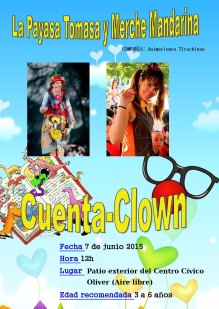 cartel cuenta-clown